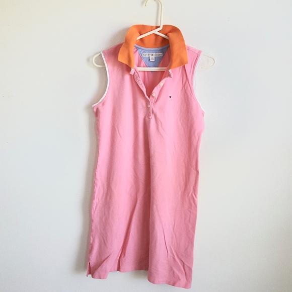 bddccf4cc Tommy Hilfiger L womens dress pink orange polo. M_5b981899c61777222650e06a